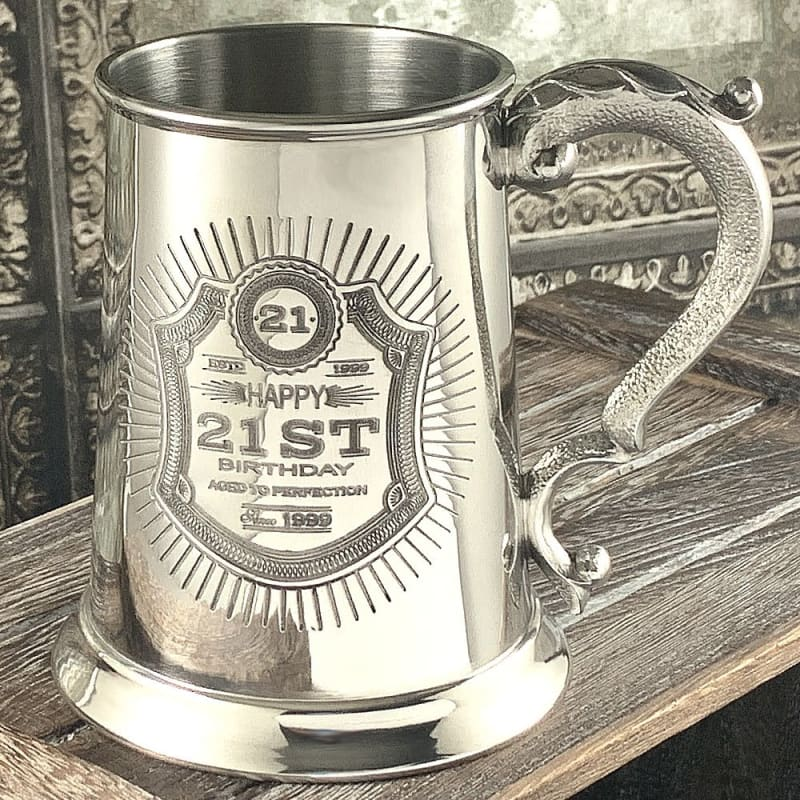 1 Pint 21st Birthday Tankard