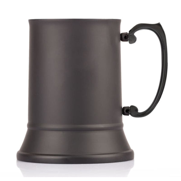 1 Pint Black Stainless Steel Tankard with Presentation Box