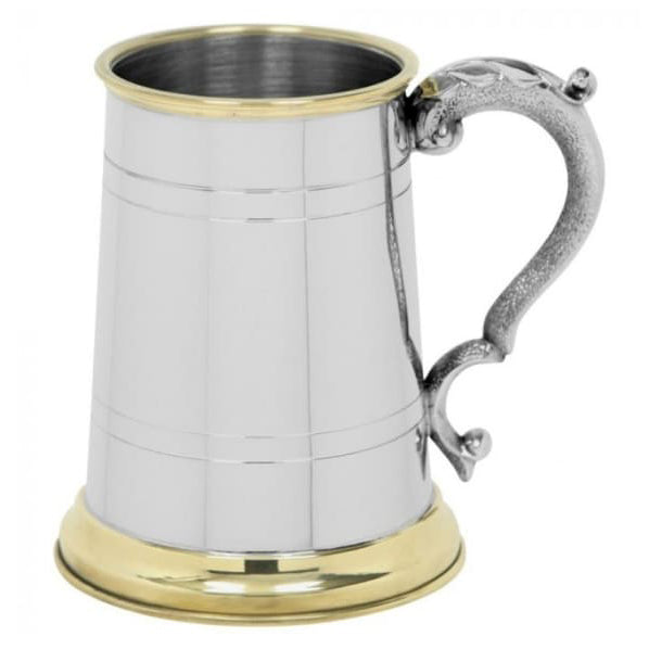 1 Pint Brass Trimmed Tankard