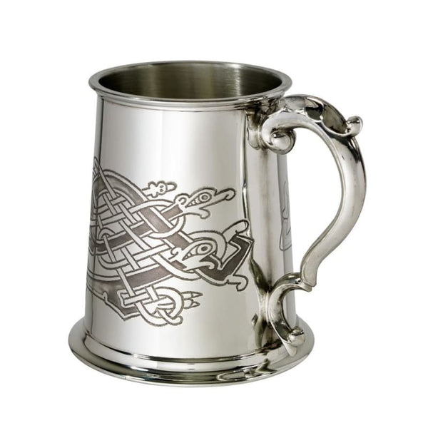 1 Pint Celtic Birds Pewter Tankard