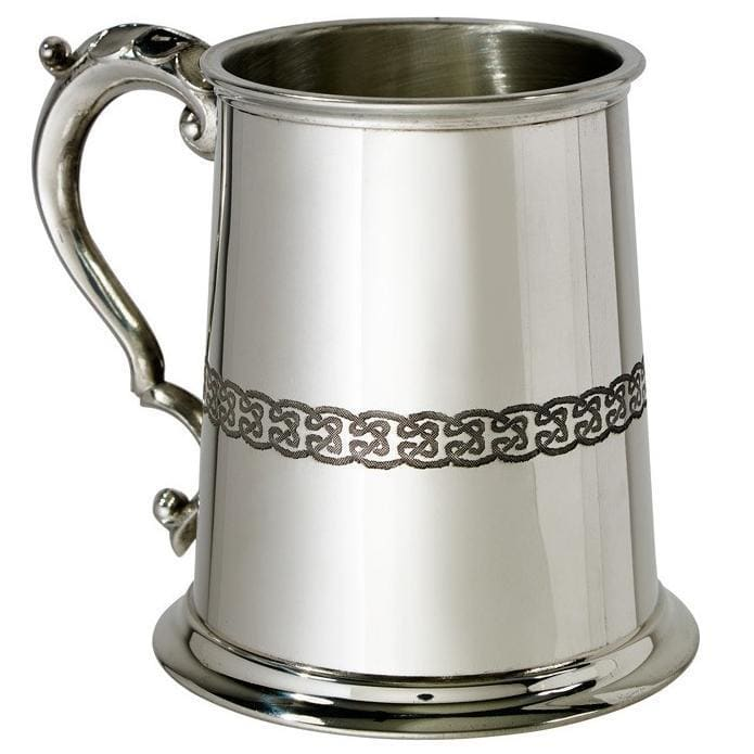 1 Pint Celtic Dragon Pewter Tankard