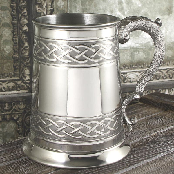 1 Pint Celtic Knot Embossed Tankard