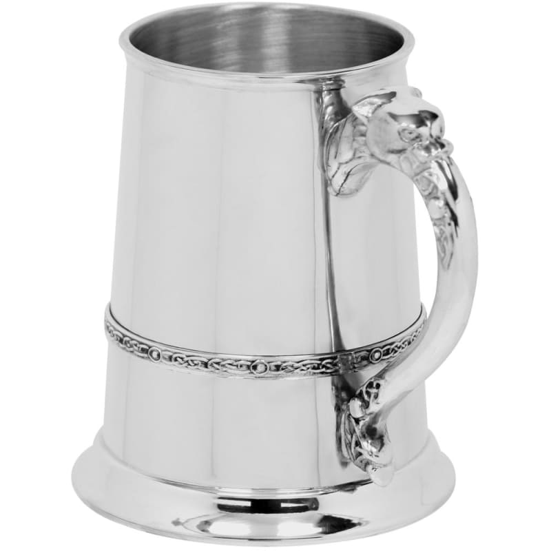 1 Pint Celtic Lion Handle Tankard