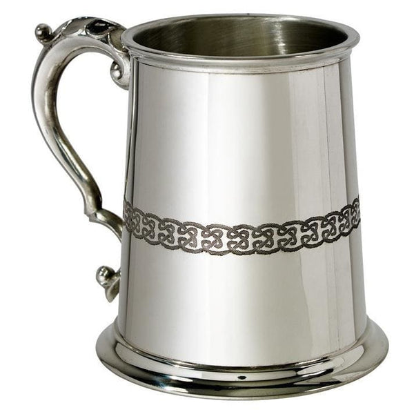 1 Pint Celtic Lion Pewter Tankard
