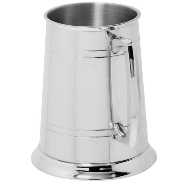 1 Pint Double Lines Pewter Tankard
