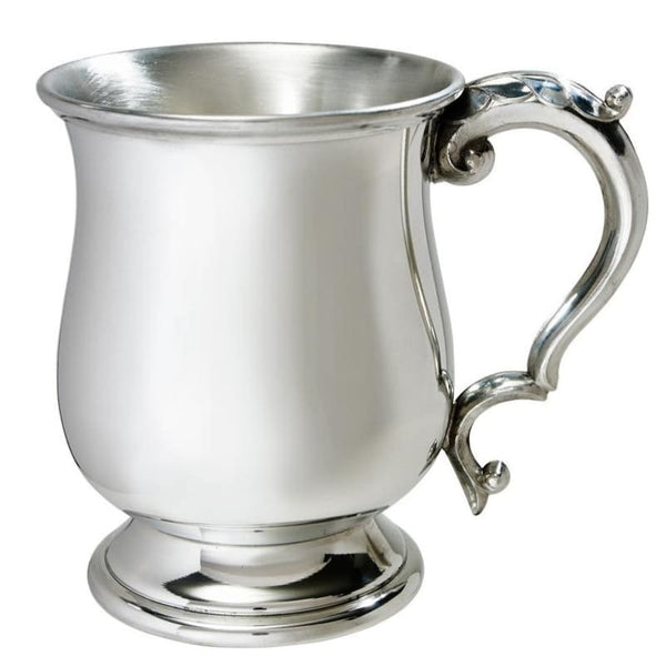 1 Pint Georgian Pewter Tankard