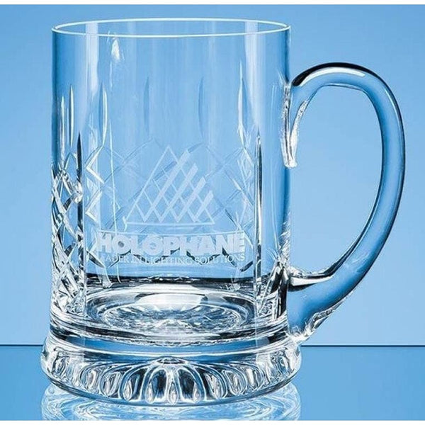 1 Pint Handmade Star Base Glass Tankard