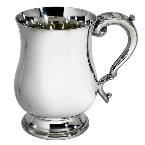 1 Pint Heavy Weight Georgian Pewter Tankard