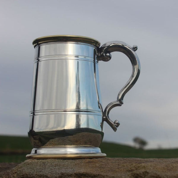 1 Pint Heavy Weight Hallam Pewter Tankard