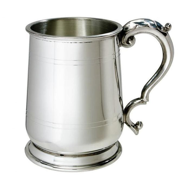 1 Pint Jacobean Pewter Tankard