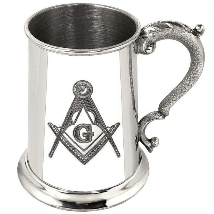 1 Pint Masonic G Pewter Tankard