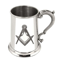 1 Pint Masonic No G Pewter Tankard
