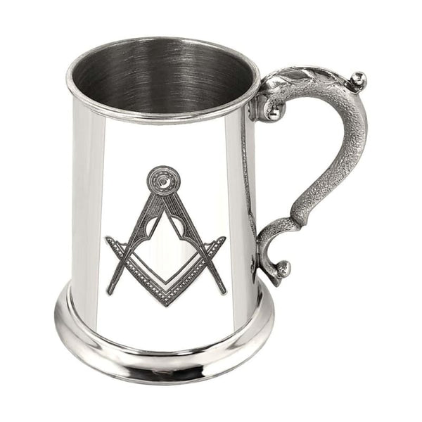 1 Pint Masonic Pewter Tankard