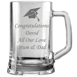 Personalised Graduation 1 Pint Glass Tankard