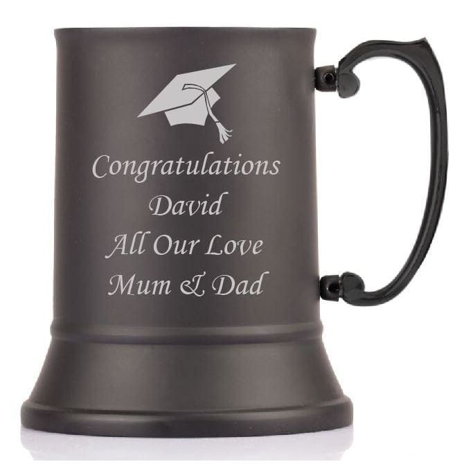 1 Pint Personalised Graduation Steel Tankard with