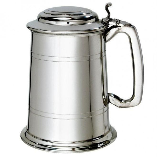 1 Pint Straight 2 Lined Lidded Tankard