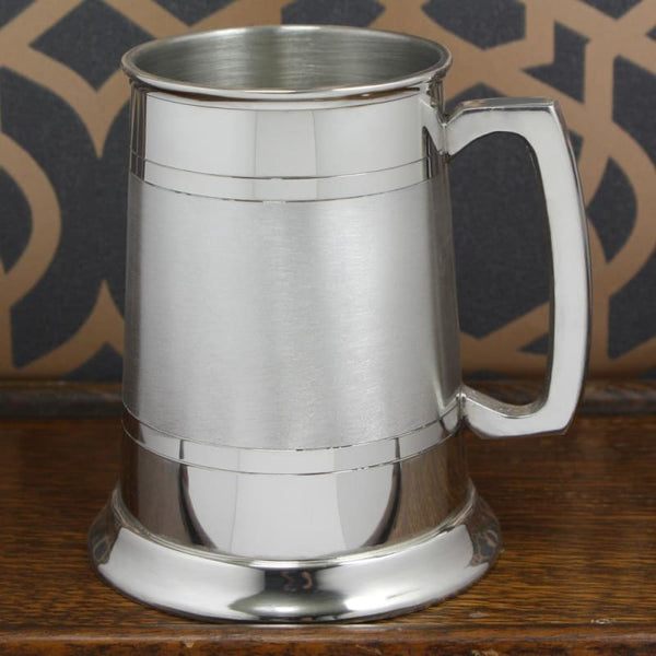 1 Pint Straight Satin Band Tankard