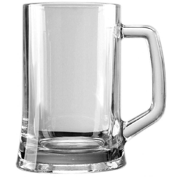 1+ Pint Straight Sided Glass Tankard