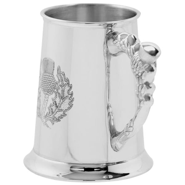 1 Pint Thistle Design Tankard