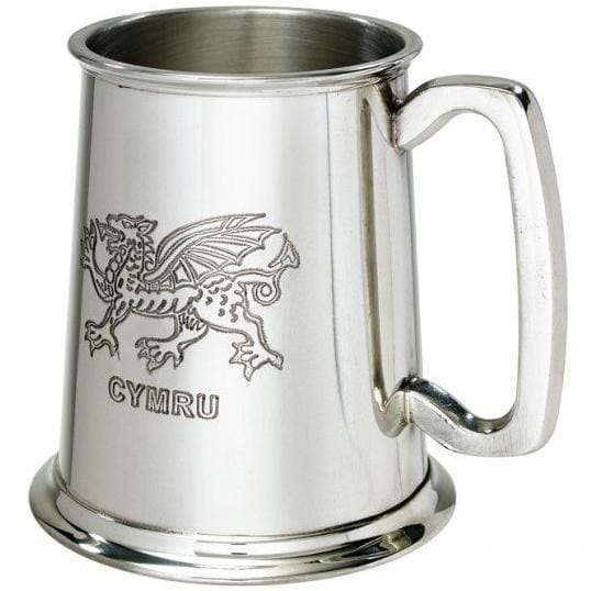 1 Pint Welsh Dragon Pewter Tankard