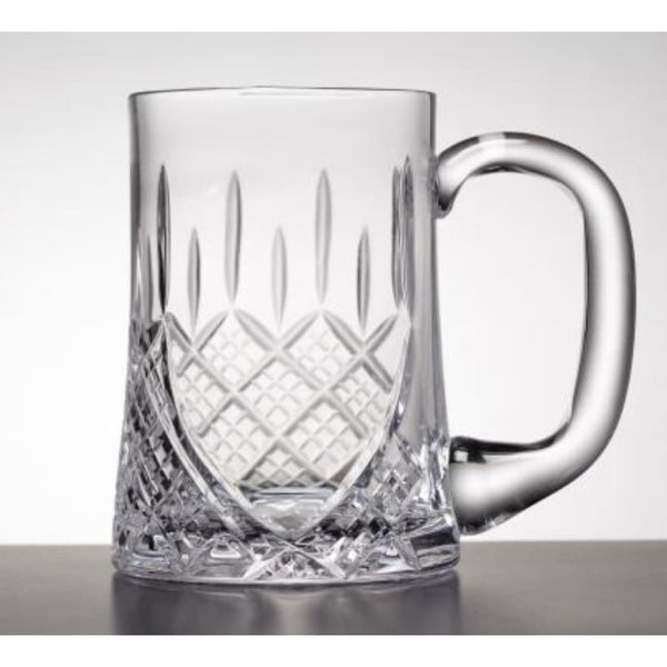 1 Pint Worcester Crystal Tankard with Engraving Panel