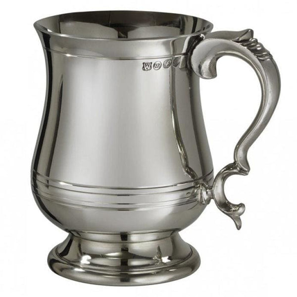 1 Pint X-Range Georgian Pewter Tankard