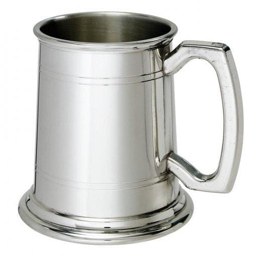 1/2 Pint Double Lines Pewter Tankard
