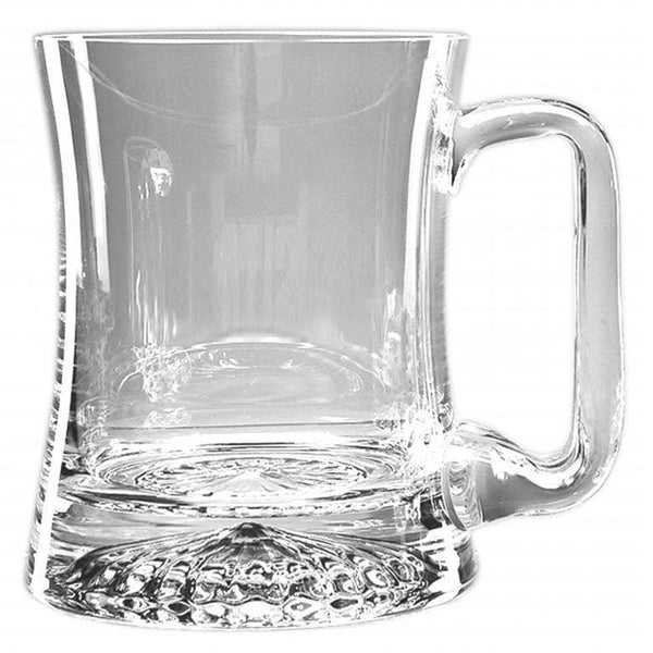 1/2 Pint Handmade Curved Star Base Glass Tankard
