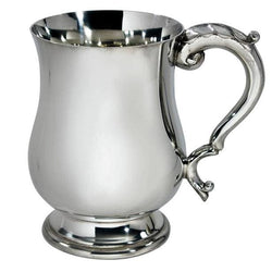 1/2 Pint Heavy Weight Georgian Pewter Tankard