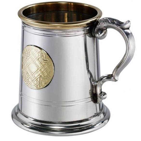 1/2 Pint Pewter Celtic Gold Tankard