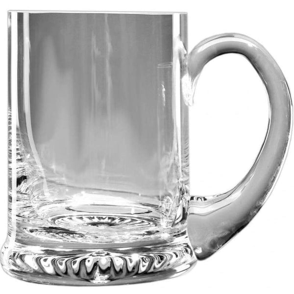 1/2 Pint Handmade Star Base Glass Tankard