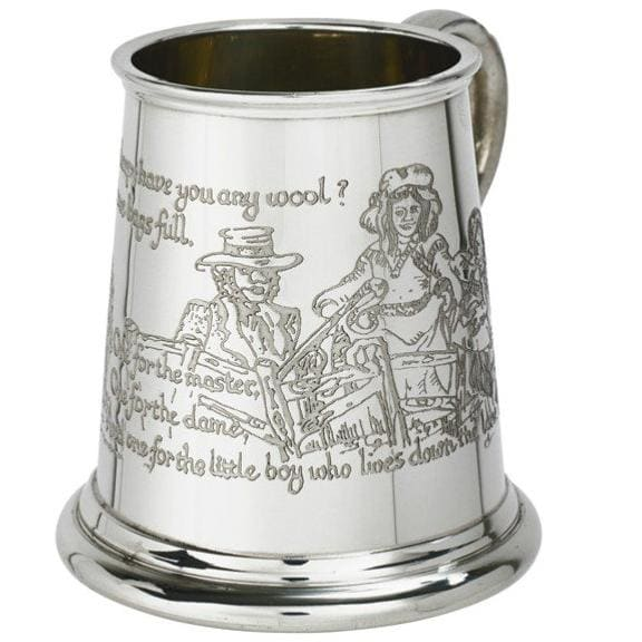 1/4 Pint Cow Over The Moon Pewter Mug