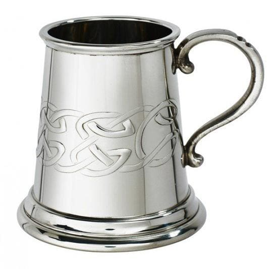 1/4 Pint Embossed Celtic Tankard