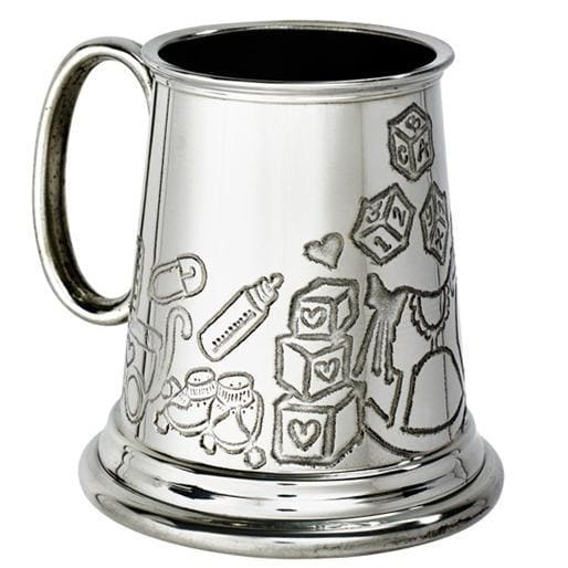 1/4 Pint God Child Pewter Mug