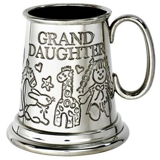 1/4 Pint Grand Daughter Pewter Mug