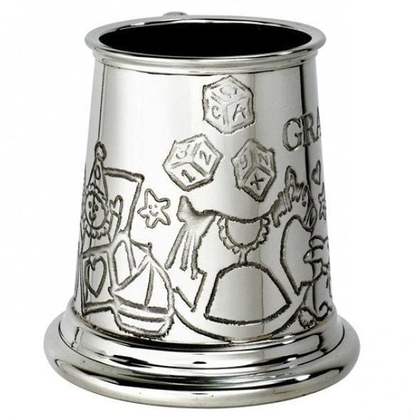 1/4 Pint Grandson Pewter Mug