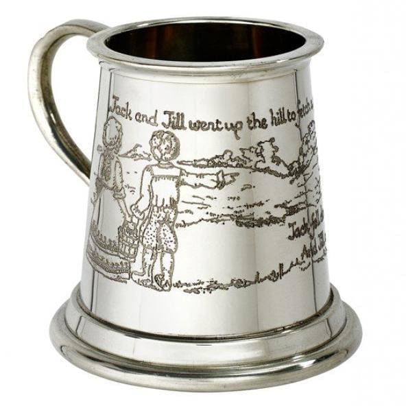 1/4 Pint Jack And Jill Pewter Mug