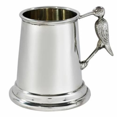 1/4 Pint Plain Pewter Stork Handle Mug