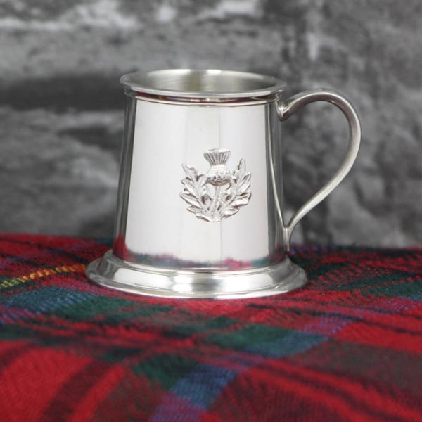 2oz Measure With Thistle Emblem