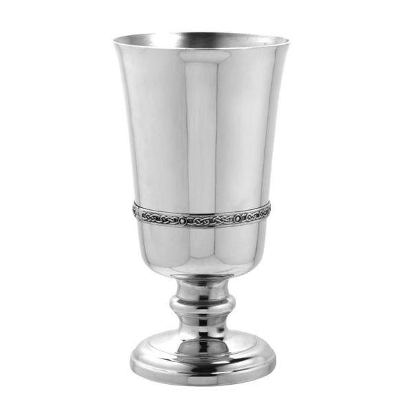 6 Pewter Goblet With Celtic Band