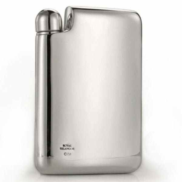 Erik Magnussen Pewter Hip Flask 6oz by Royal Selangor