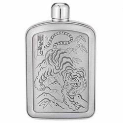 Limited Edition Ortis Tiger Pewter 5oz Hip Flask by Royal