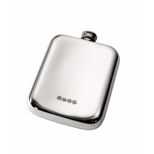 Plain Pewter Pocket Flask