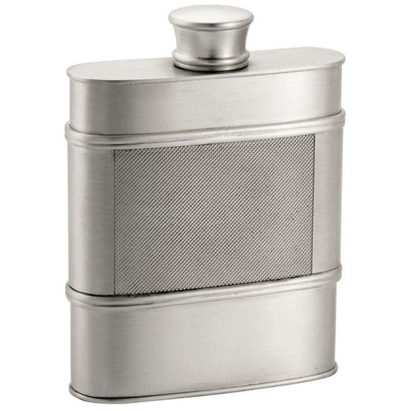 Satin Finish 9.5cl Royal Selangor Pewter Hip Flask in Wooden