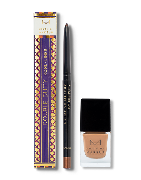 DOUBLE DUTY – BRONZONE + NAIL LACQUER CINNAMON SWIRL COMBO - House Of Makeup