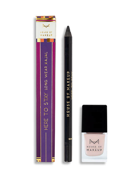 HERE TO STAY KAJAL NOIR + BLOOMING PEONY COMBO - House Of Makeup