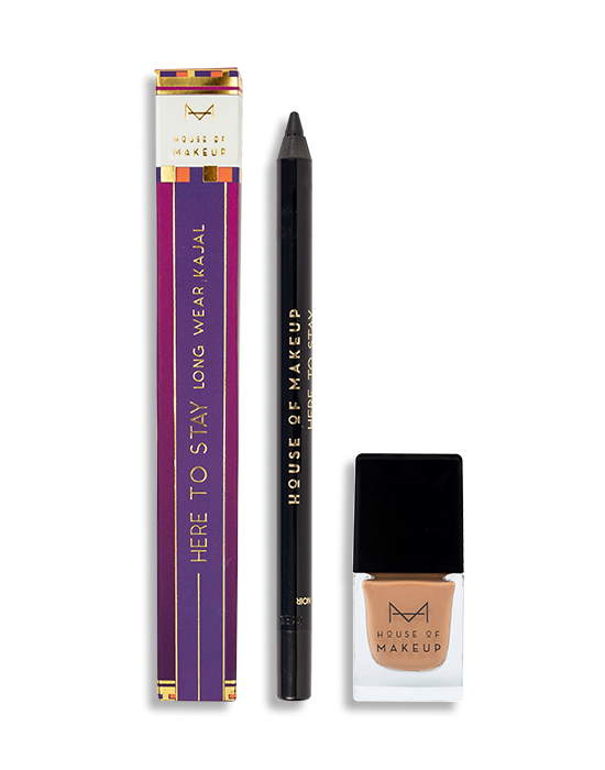 HERE TO STAY KAJAL NOIR + CINNAMON SWIRL COMBO - House Of Makeup