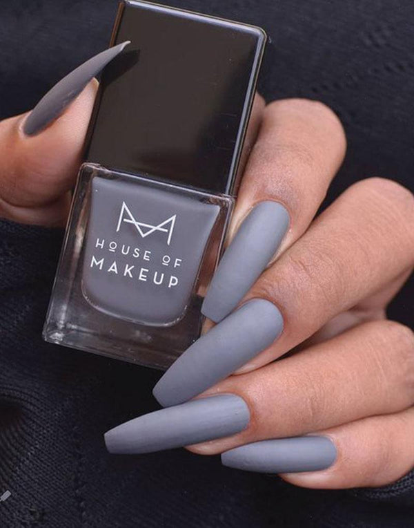 MATTE NAIL LACQUER - MR. GREY<br><small>Mfg: June-20 |  Exp: May-22</small>