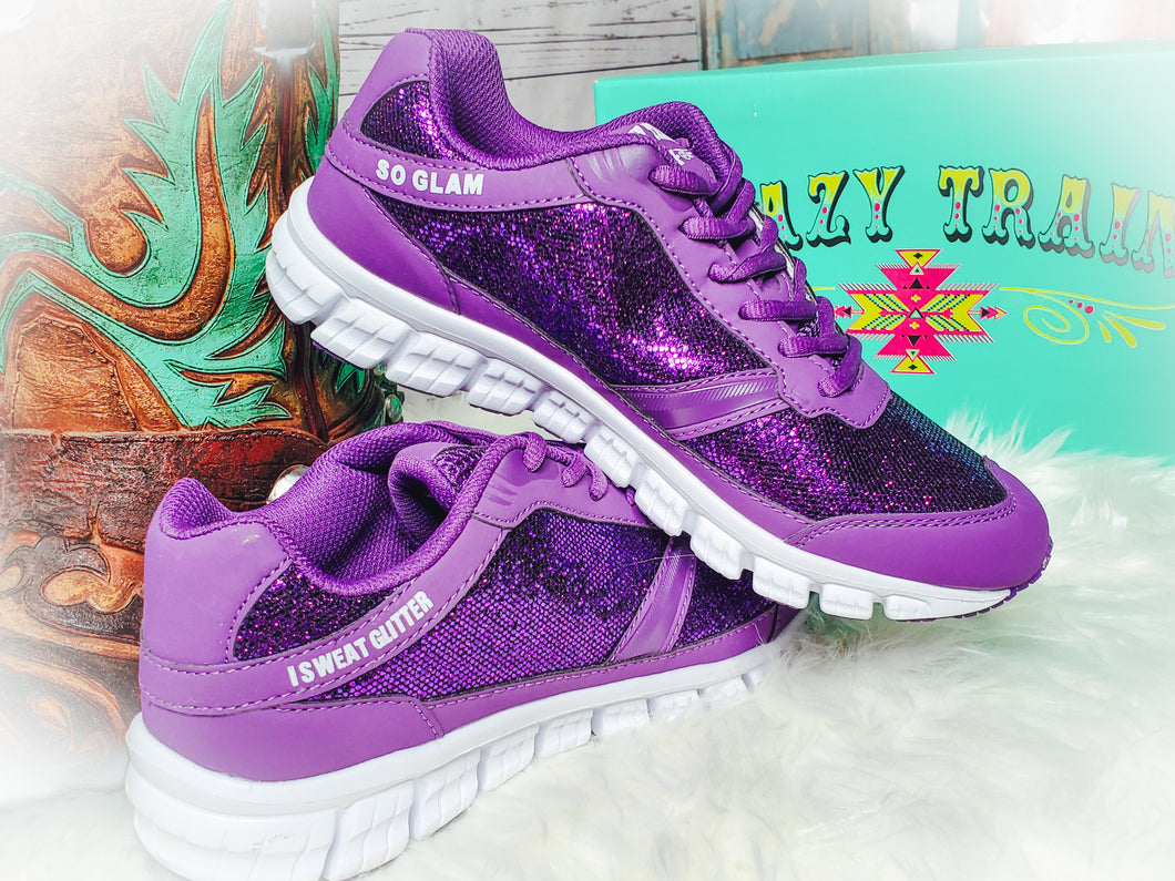 So Glam Purple Tennis Shoes - Sister Tribe Boutique