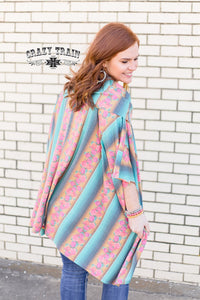 Serape Rose Poncho - Sister Tribe Boutique